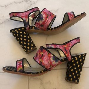 Anthropologie pattern heels 9